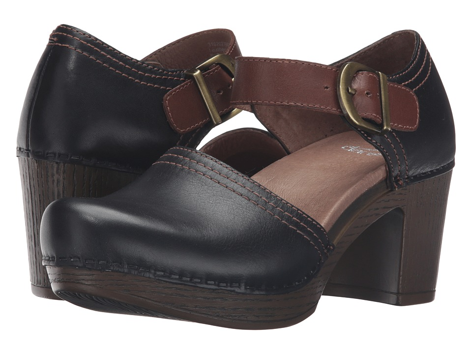 Dansko - Darlene (Black Full Grain) Women's Clog Shoes