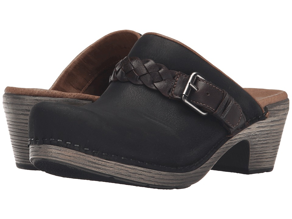 Dansko - Melanie (Black Milled Nubuck) Women's Clog Shoes