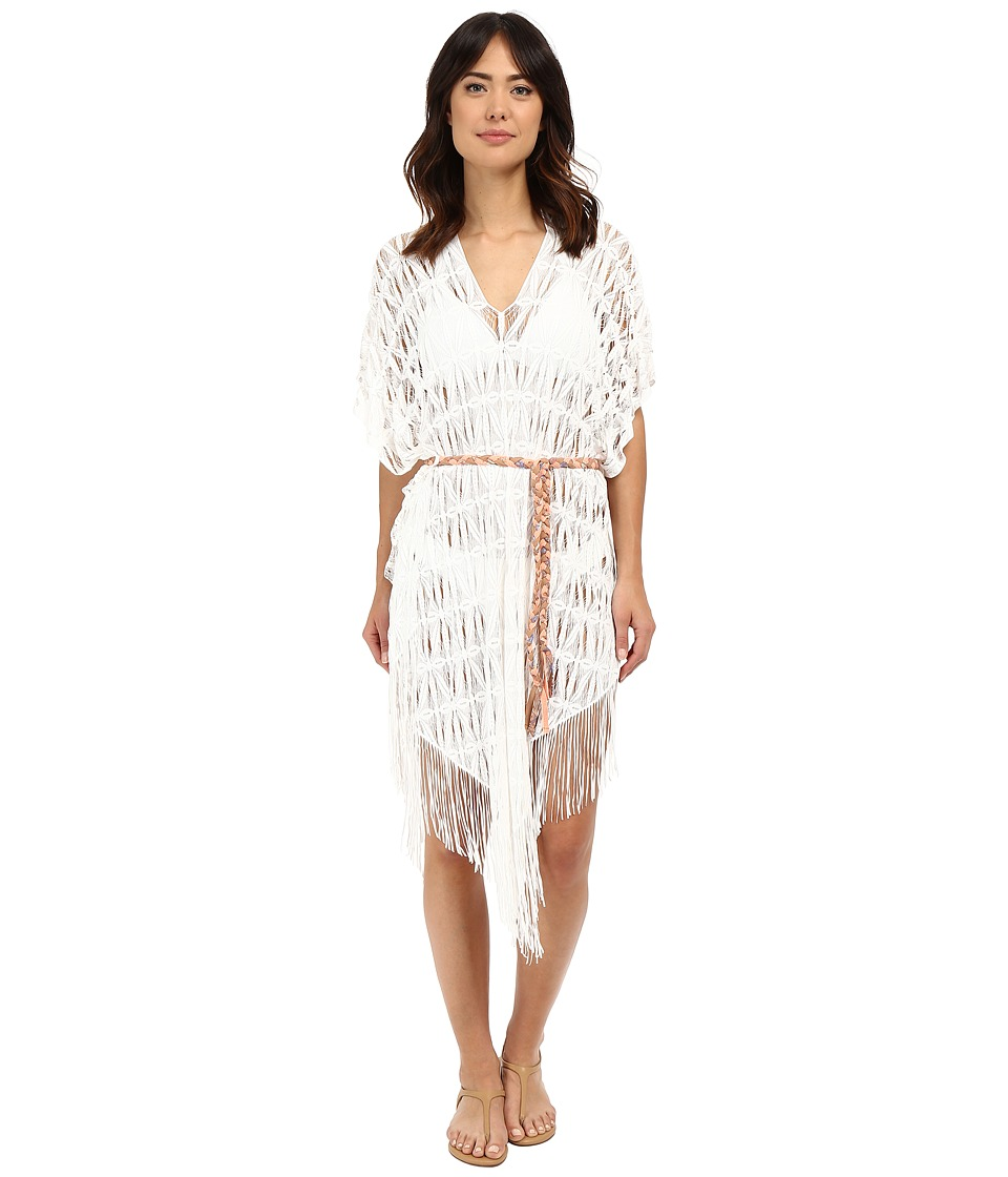 Maaji - White Water Rush Poncho Cover-Up (White) Women's Swimwear
