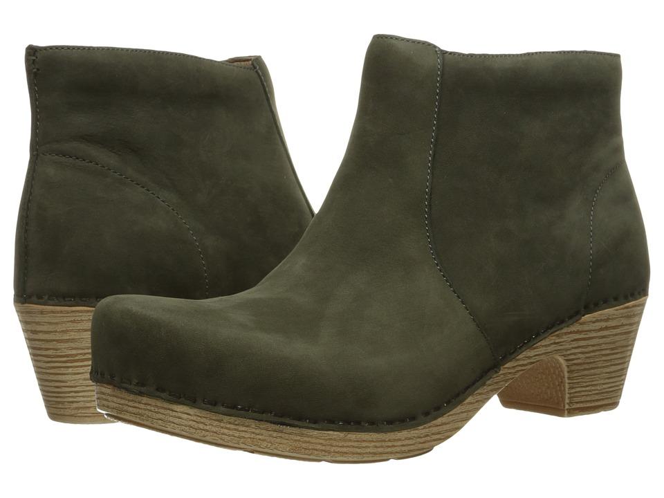 Dansko - Maria (Olive Milled Nubuck) Women's Pull-on Boots