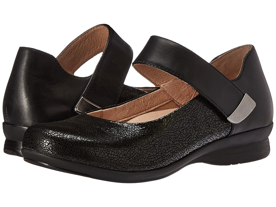 Dansko - Audrey (Black Crackle) Women's Flat Shoes