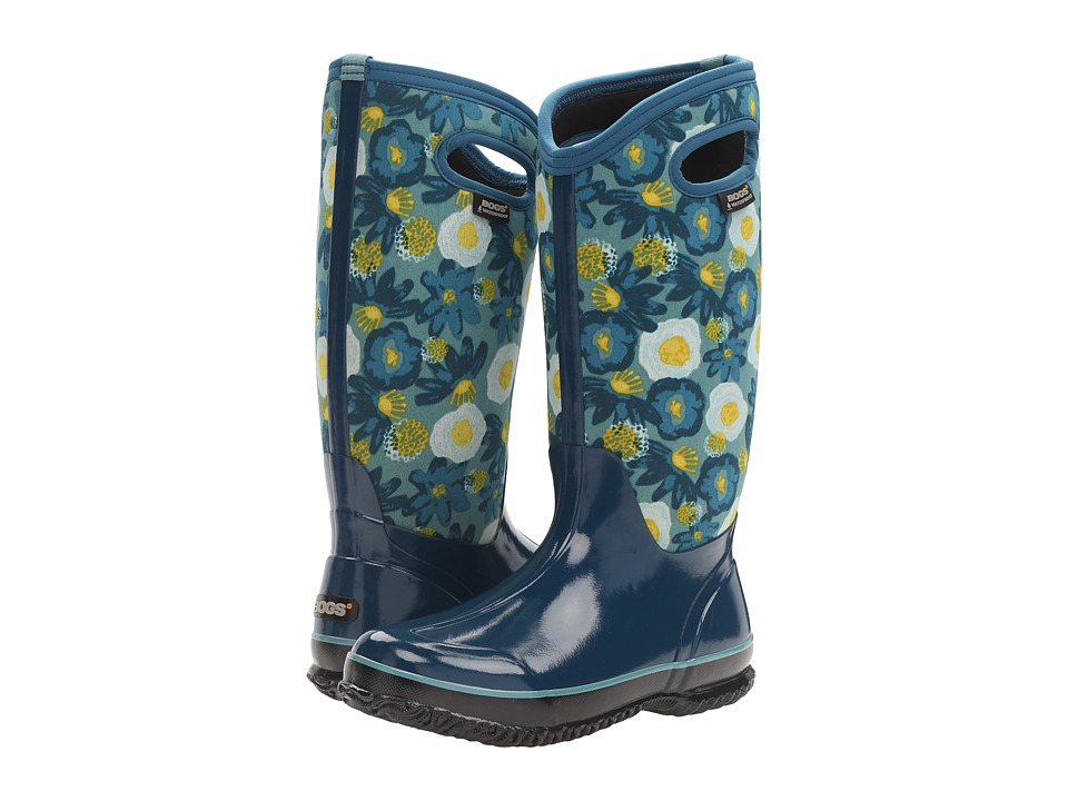 Bogs Classic Watercolor Tall (Legion Blue Multi) Women