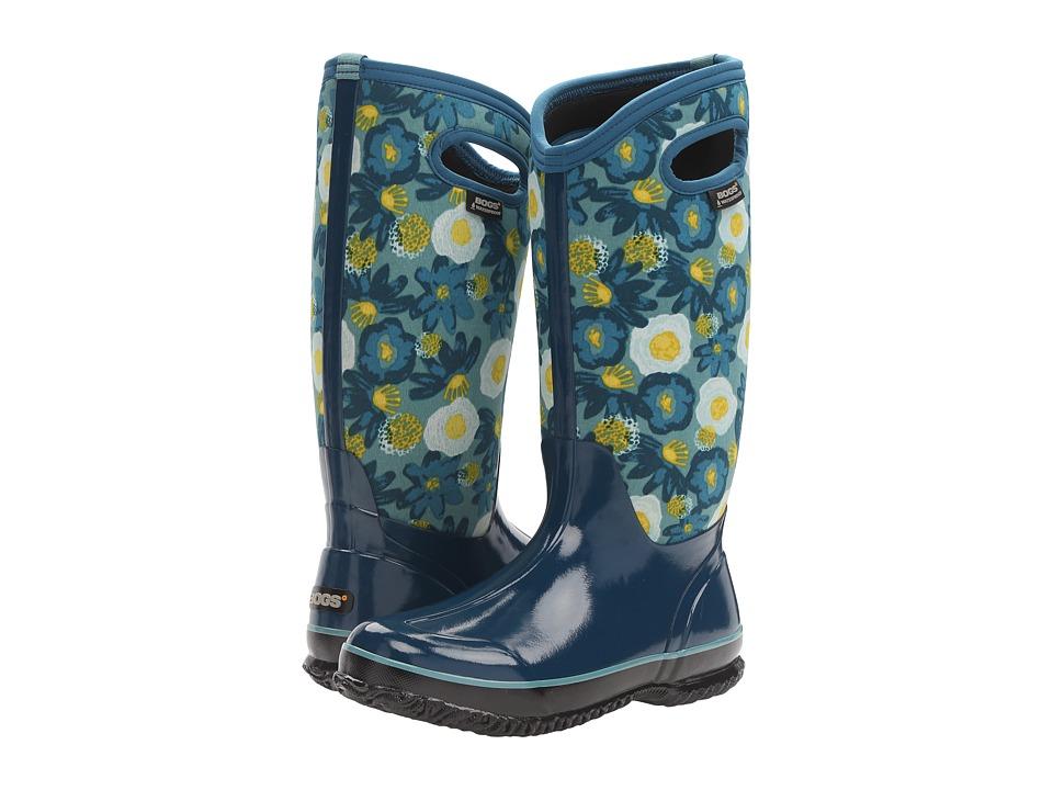 Bogs - Classic Watercolor Tall (Legion Blue Multi) Women's Rain Boots
