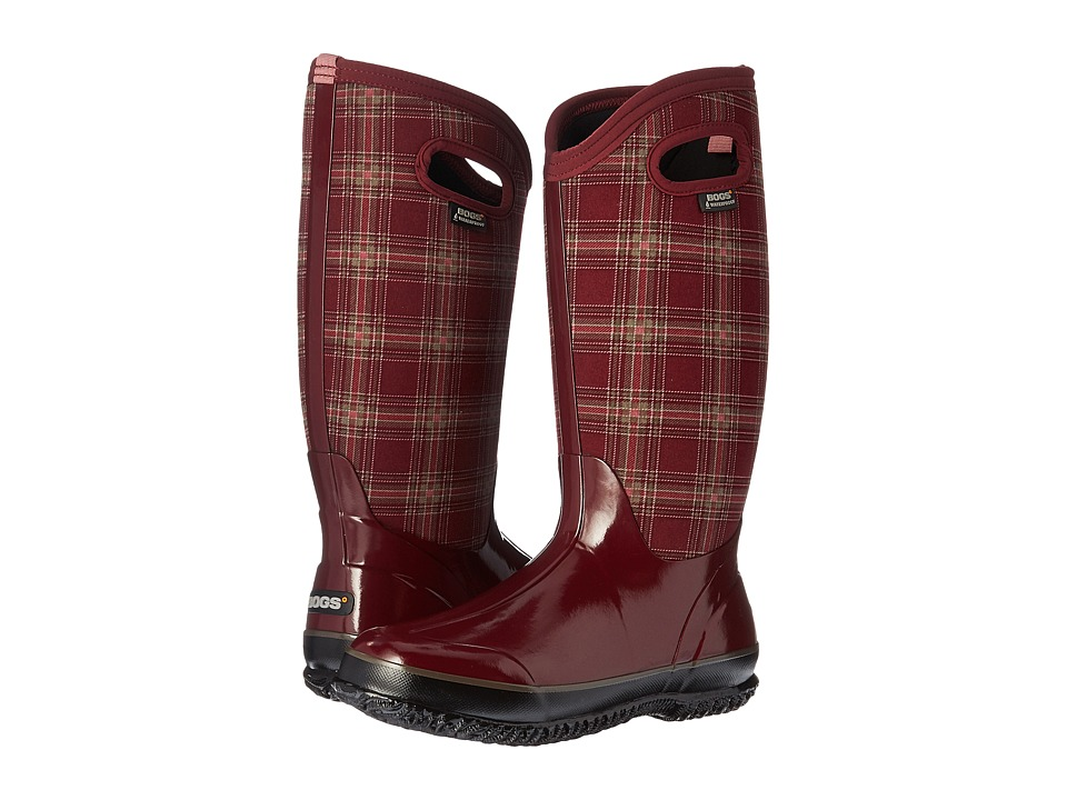Bogs - Classic Winter Plaid Tall (Burgundy Multi) Women's Shoes
