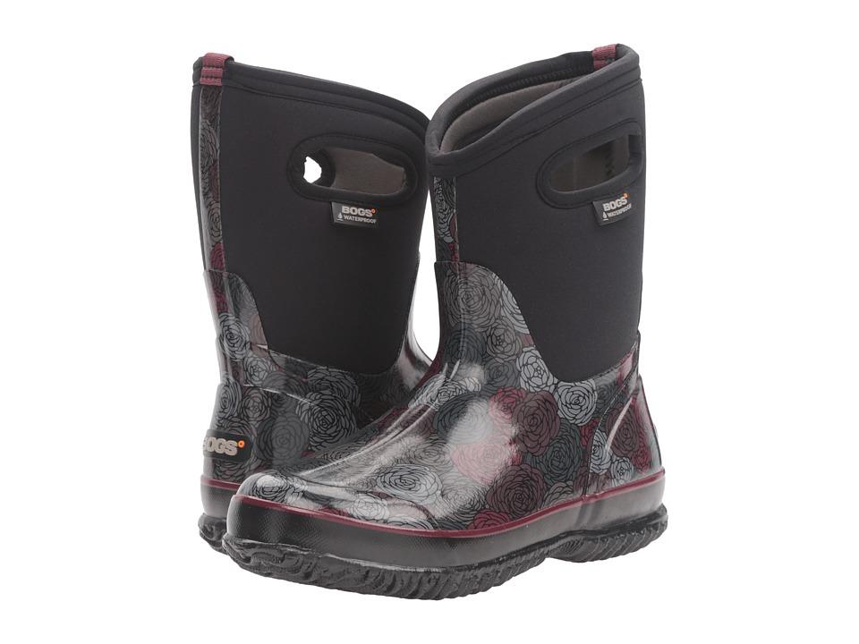Bogs - Classic Rosey Mid (Black Multi) Women's Waterproof Boots