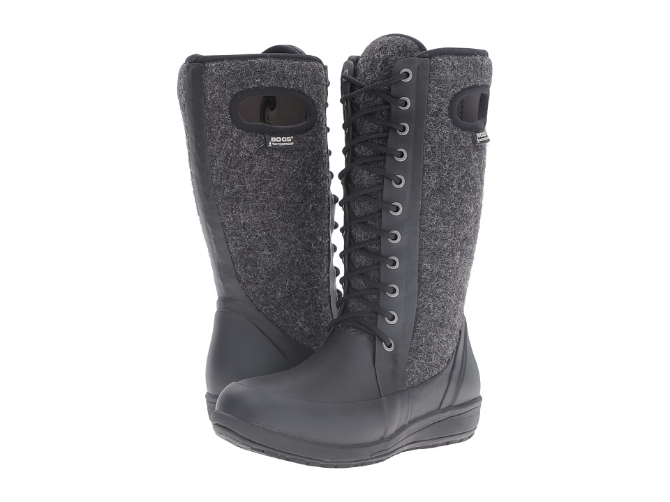Bogs Cami Lace Tall Wool Black Multi Womens Waterproof Boots
