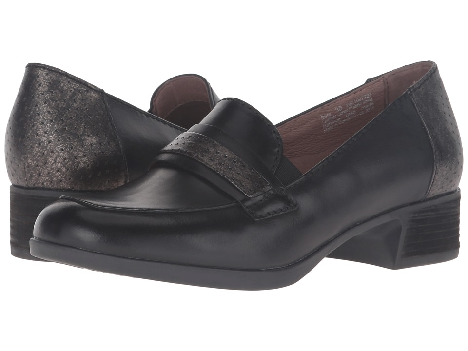 Dansko - Lila (Black Antiqued Calf) Women's Lace up casual Shoes