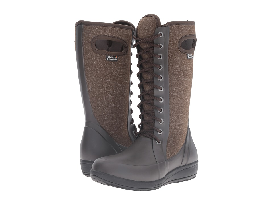 Bogs - Cami Lace Tall Melange (Chocolate Multi) Women's Waterproof Boots