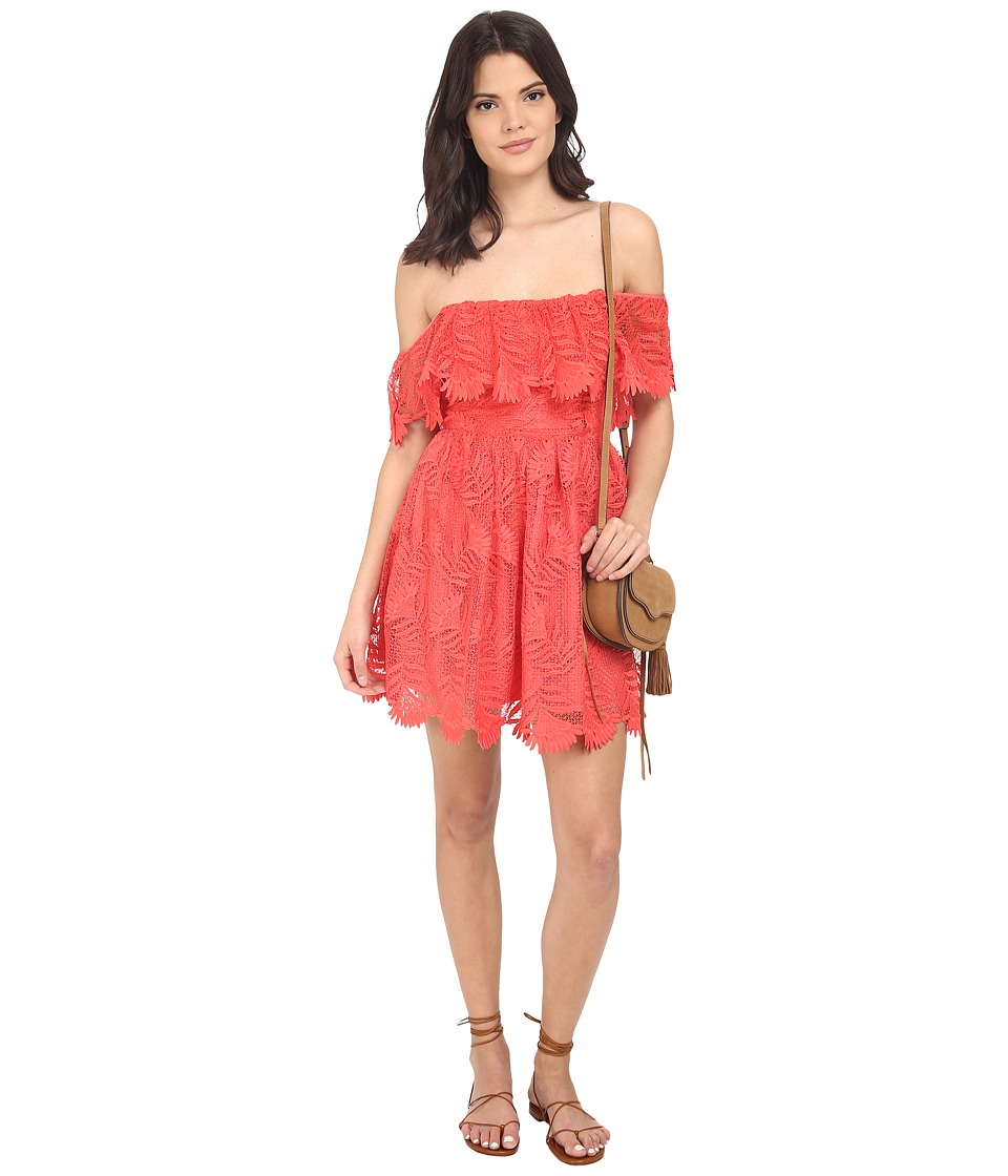 Lovers + Friends - Dream Vacay Dress (Coral Reef) Women's Dress