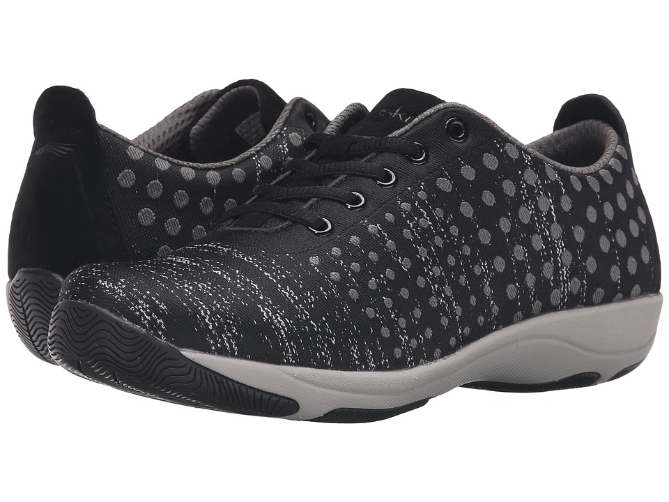 Dansko - Hanna (Black/Grey Dot) Women's Lace up casual Shoes