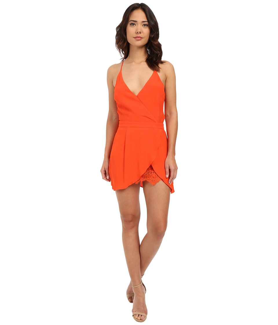 Lovers + Friends - Soul Mate Mini Dress (Coral Reef) Women's Dress