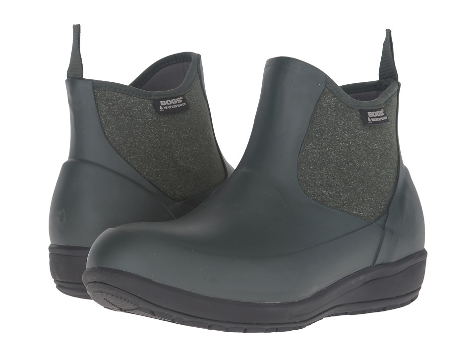 Bogs - Cami Low (Dark Green) Women's Waterproof Boots
