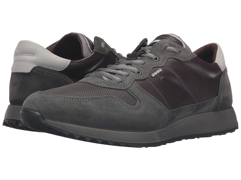 ECCO - Sneak Tie (Dark Shadow/Slate/Mocha) Men's Shoes
