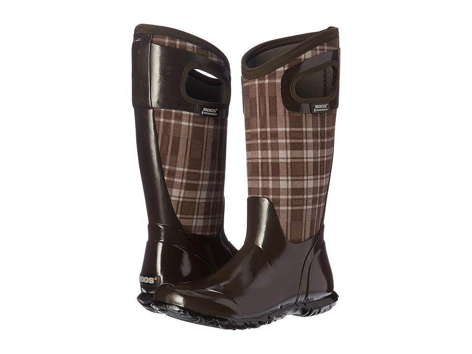 Bogs - North Hampton Plaid (Chocolate Multi) Women's Rain Boots