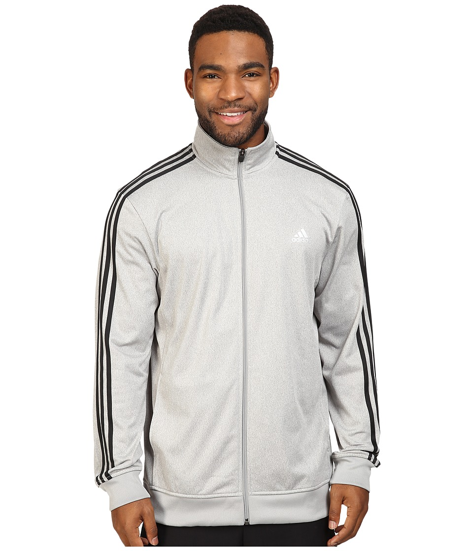 adidas - Essentials Track Jacket (Medium Grey Heather/Solid Grey/Colored Heather/Black) Men's Coat