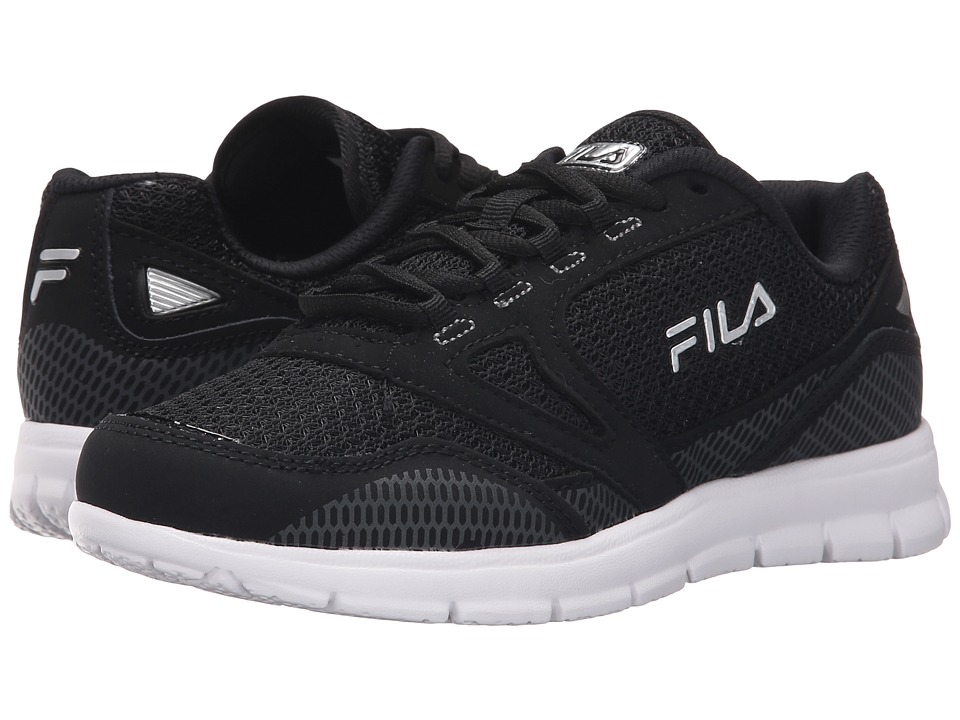 Fila - Direction (Black/Black/Metallic Silver) Women's Shoes