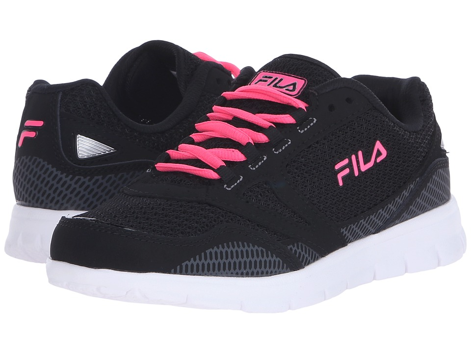 Fila - Direction (Black/Knockout Pink/Metallic Silver) Women's Shoes