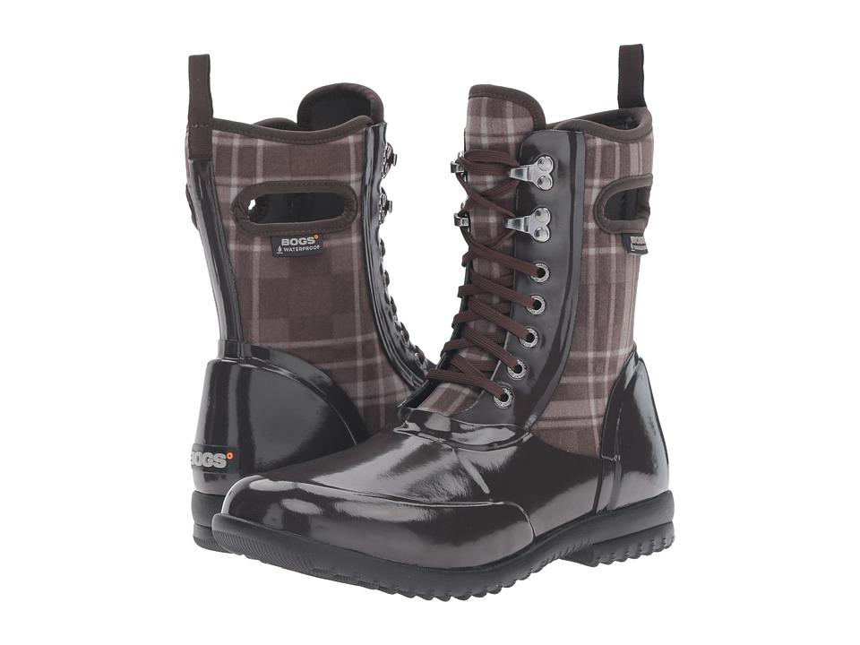 Bogs - Sidney Lace Plaid (Chocolate Multi) Women's Rain Boots