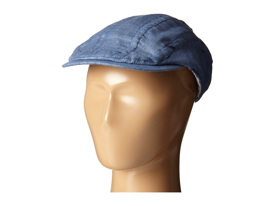 Appaman Kids - Newsboy Cap with Appaman Monkey Lining (Infant/Toddler/Little Kids/Big Kids) (Medium Blue) Caps