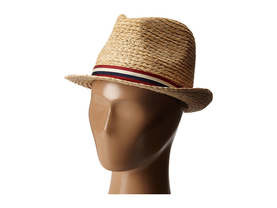 Appaman Kids - Houston Straw Fedora (Infant/Toddler/Little Kids/Big Kids) (Natural) Fedora Hats