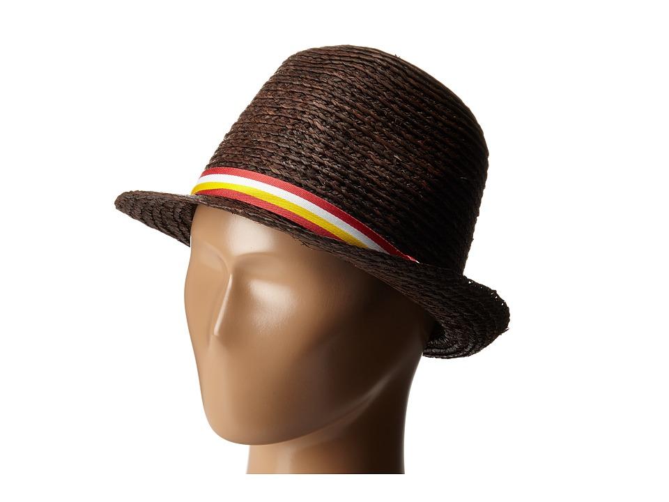Appaman Kids - Houston Straw Fedora (Infant/Toddler/Little Kids/Big Kids) (Sepia) Fedora Hats