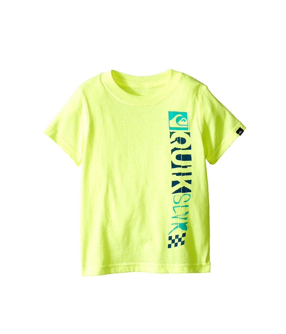 Quiksilver Kids - Sidesmash Screen Print (Toddler) (Safety Yellow) Boy's T Shirt