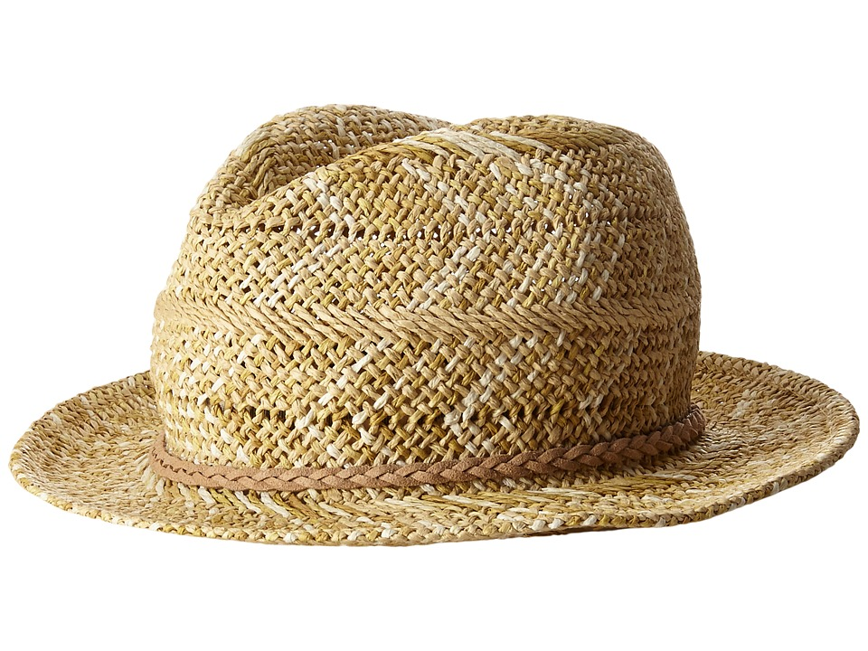 Appaman Kids - Cacey Straw Fedora with Briaded Rope Detail (Infant/Toddler/Little Kids/Big Kids) (Natural) Fedora Hats