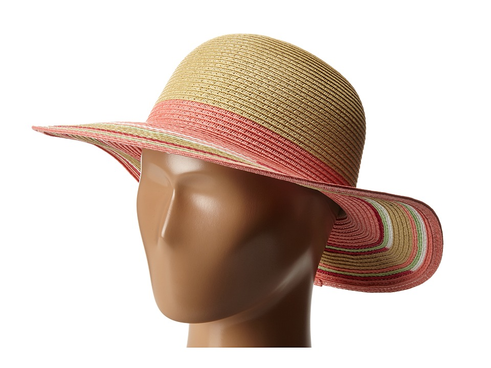 Appaman Kids - Aadey Straw Floppy Hat (Infant/Toddler/Little Kids/Big Kids) (Salmon Rose) Caps