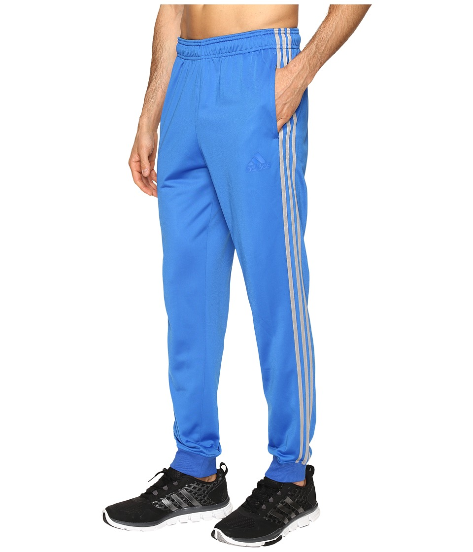 adidas - Essentials Tricot Jogger (Blue/Medium Grey Heather/Solid Grey) Men's Clothing