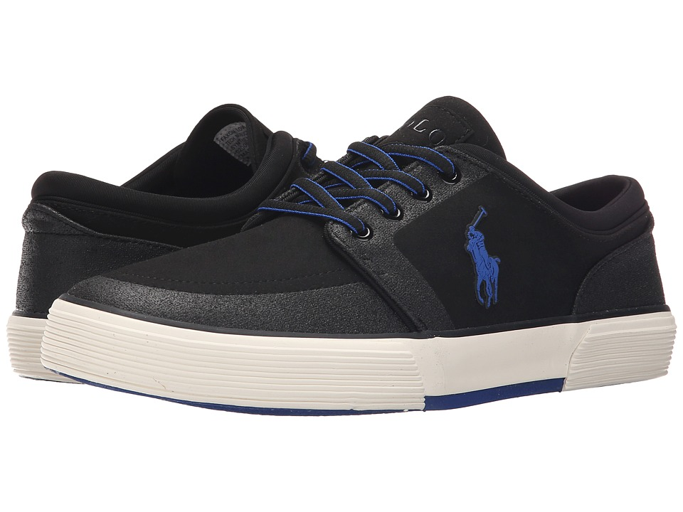 Polo Ralph Lauren Faxon Low (Black Tech Nubuck) Men