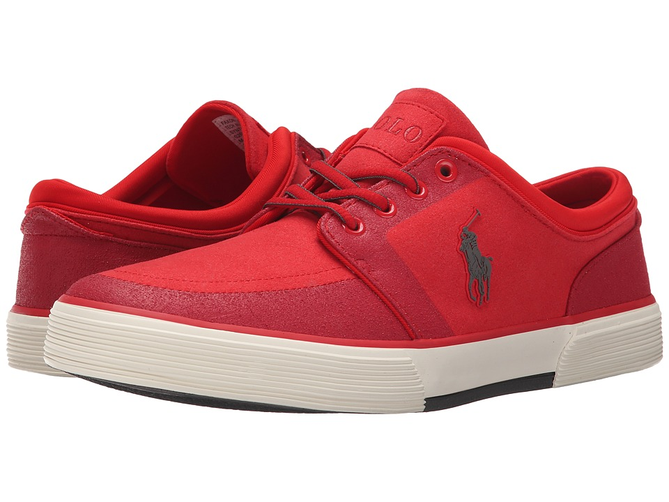 Polo Ralph Lauren Faxon Low (RL2000 Red Tech Nubuck) Men