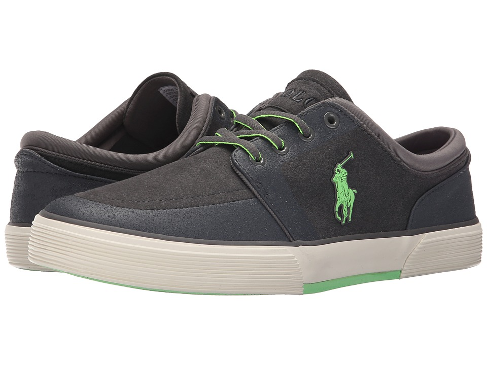 Polo Ralph Lauren Faxon Low (Charcoal Grey Tech Nubuck) Men
