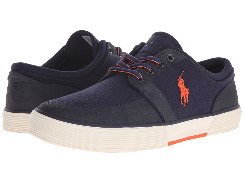 Polo Ralph Lauren Faxon Low (Newport Navy Tech Nubuck) Men