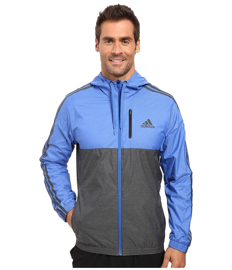 adidas - Essentials Woven Track Jacket Hoodie (Blue/Black) Men's Sweatshirt