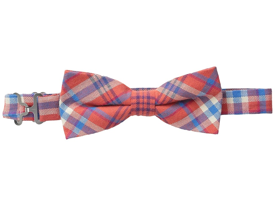 Appaman Kids - Adjustable Size Bow Ties (Little Kids) (Orange Plaid) Ties