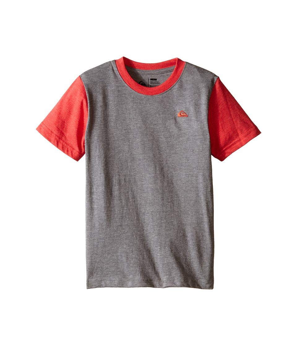 Quiksilver Kids - Prime Screen Print (Toddler/Little Kids) (Medium Grey Heather) Boy's T Shirt
