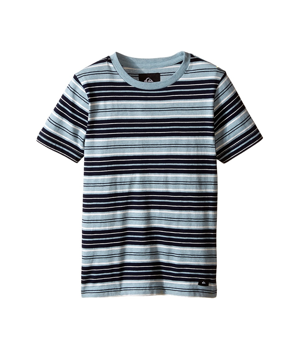Quiksilver Kids - Dry Ice Screen Print (Toddler/Little Kids) (Tourmaline Heather) Boy's Short Sleeve Pullover
