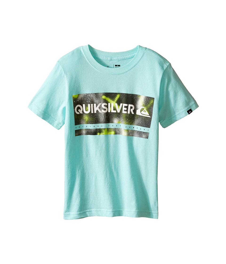 Quiksilver Kids - Check My Spray Screen Print (Toddler/Little Kids) (Aruba Blue) Boy's T Shirt