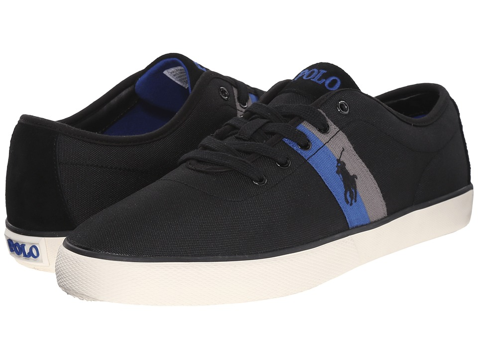 Polo Ralph Lauren - Halford (Polo Black Matte Codura/Suede) Men's Lace up casual Shoes