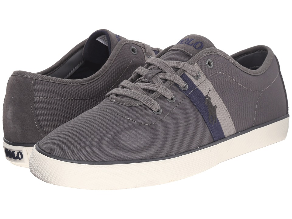 Polo Ralph Lauren - Halford (Charcoal Grey Matte Codura/Suede) Men's Lace up casual Shoes