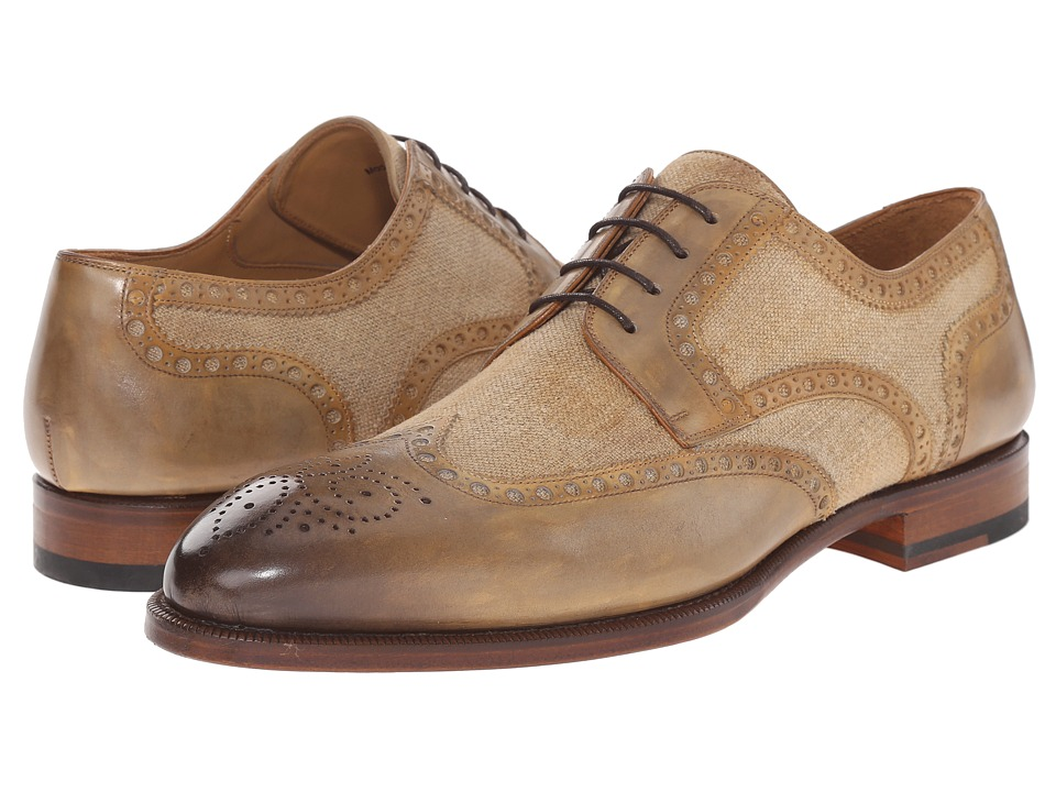 Magnanni - Artea (Castoro) Men's Lace Up Wing Tip Shoes