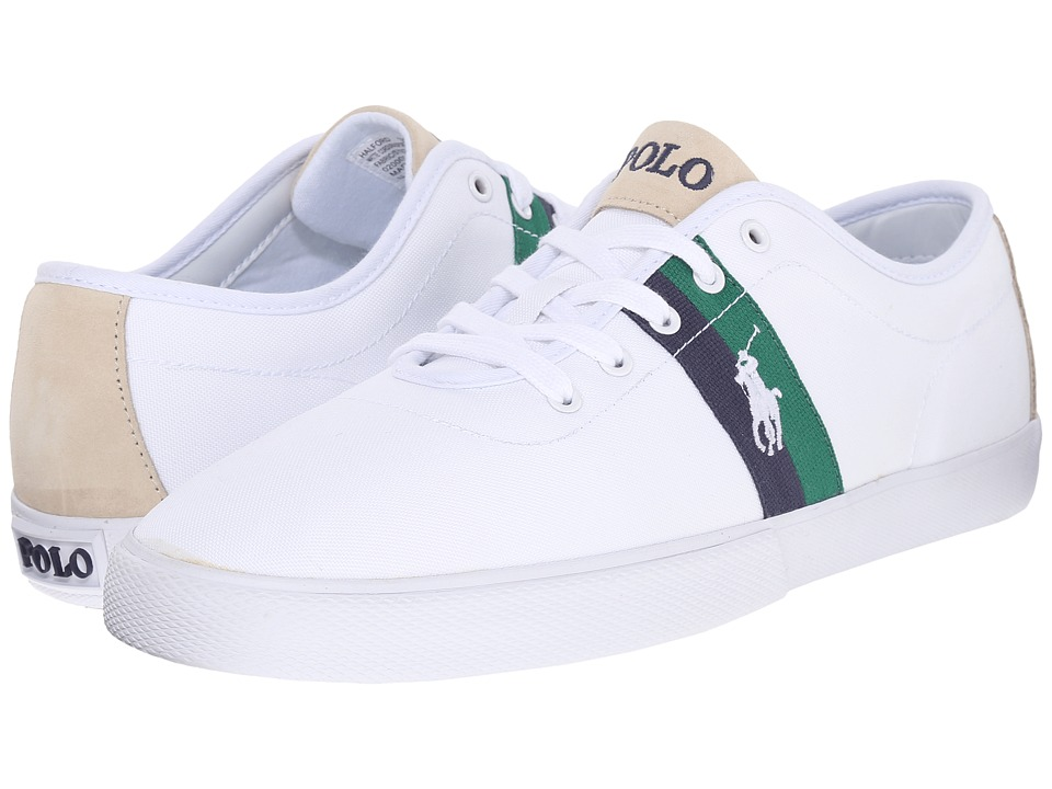 Polo Ralph Lauren - Halford (Pure White Matte Cordura/Sport Suede) Men's Lace up casual Shoes