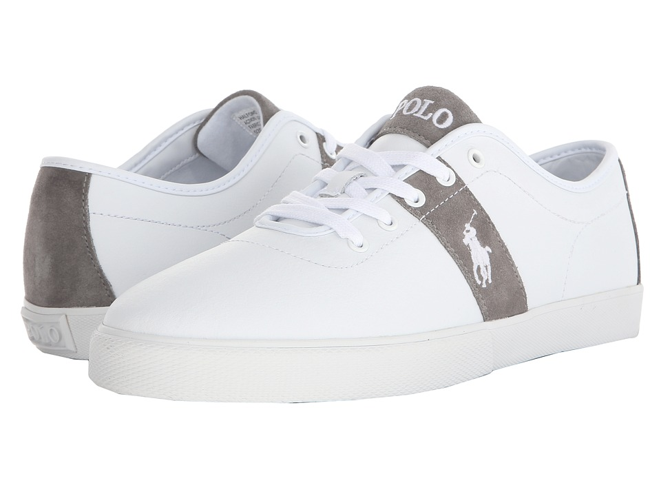Polo Ralph Lauren - Halford (White Action Leather) Men's Lace up casual Shoes