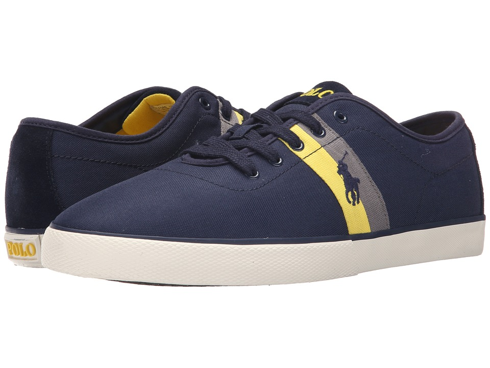 Polo Ralph Lauren - Halford (Newport Navy Matte Codura/Suede) Men's Lace up casual Shoes