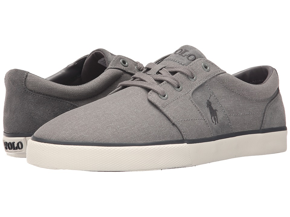 Polo Ralph Lauren - Halmore (Light Grey Heather Nylon/Sport Suede) Men's Lace up casual Shoes