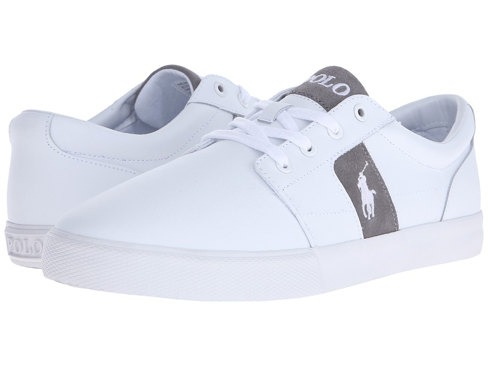 Polo Ralph Lauren - Halmore (White Action Leather) Men's Lace up casual Shoes
