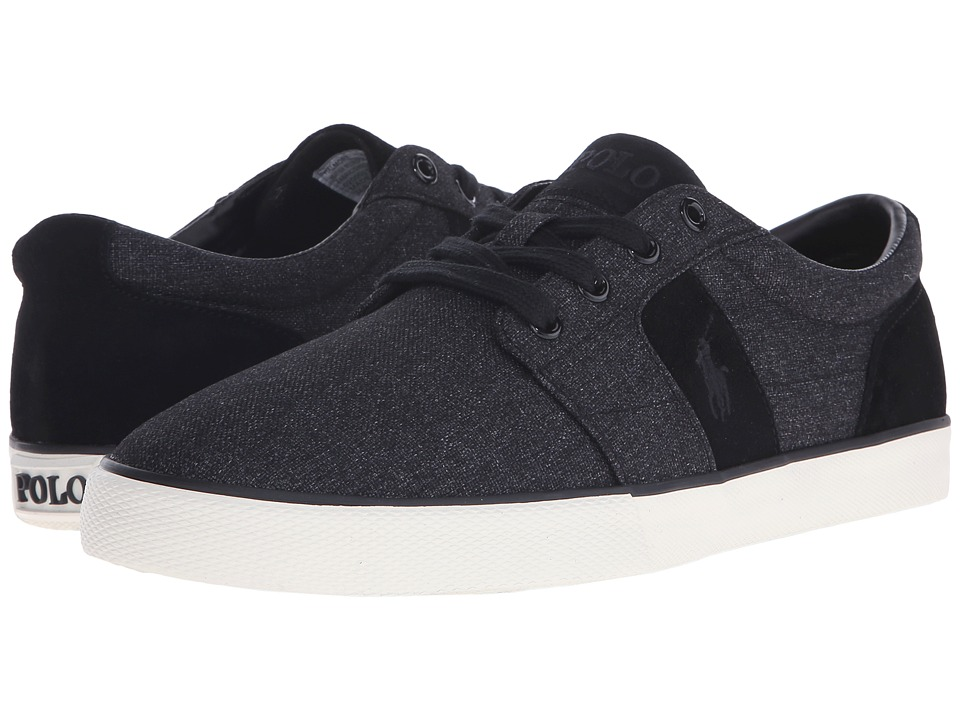 Polo Ralph Lauren - Halmore (Black Heather Nylon/Sport Suede) Men's Lace up casual Shoes
