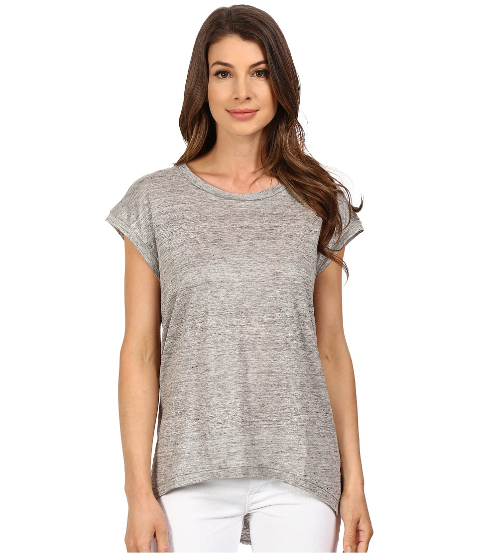 The Beginning Of - Metallic Slub Fiona High-Low Tee (Heather Grey) Women's T Shirt
