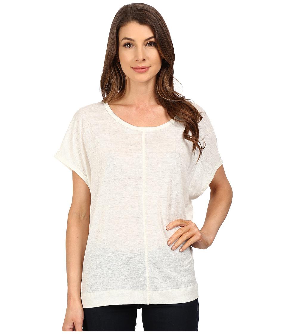 The Beginning Of - Metallic Slub Oversized Tee (White) Women's T Shirt
