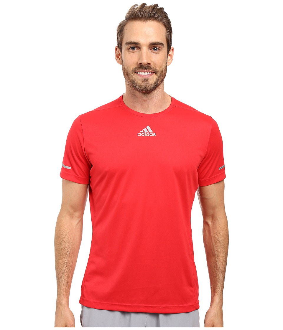 adidas - Sequencials Run Tee (Ray Red) Men's T Shirt